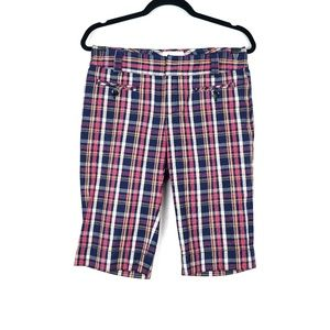 Anthropologie | Elevenses Plaid Bermuda Shorts 4